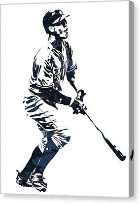 Aaron Judge New York Yankees Pixel Art 13 Canvas Print
