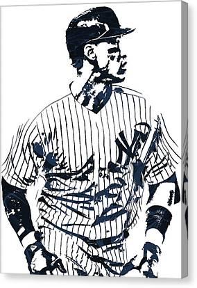Aaron Judge New York Yankees Pixel Art 2 Canvas Print