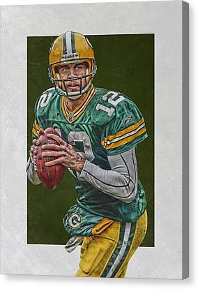 Aaron Rodgers Green Bay Packers Art 5 Canvas Print