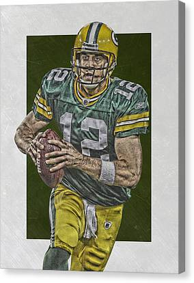 Aaron Rodgers Green Bay Packers Art Canvas Print