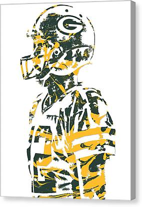 Aaron Rodgers Green Bay Packers Pixel Art 19 Canvas Print