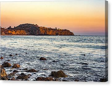 Canvas Print featuring the photograph Abalone Point Sunset by Anthony Baatz