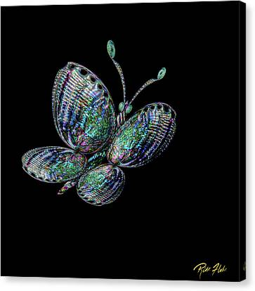 Canvas Print featuring the photograph Abalonefly by Rikk Flohr