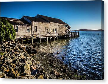 Abandonded Fishing Wharf Canvas Print by Garry Gay