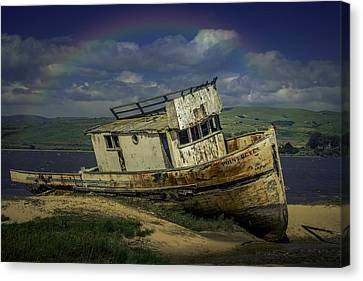 Abandonded Old Boat Canvas Print