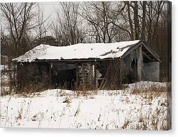 Abandoned And Cold Canvas Print by Elaine Mikkelstrup