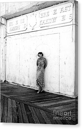 Canvas Print - Abandoned Asbury Park Boardwalk by John Rizzuto