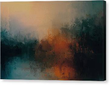 Abandoned At Sea Abstract Painting Canvas Print by Jai Johnson