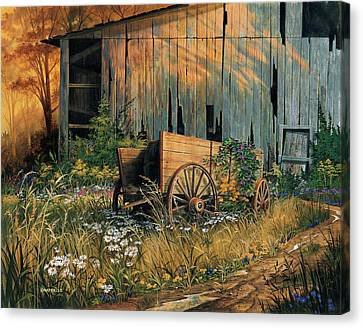 Abandoned Beauty Canvas Print