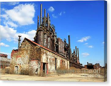 For Factory Canvas Print - Abandoned Bethlehem Steel by John Rizzuto