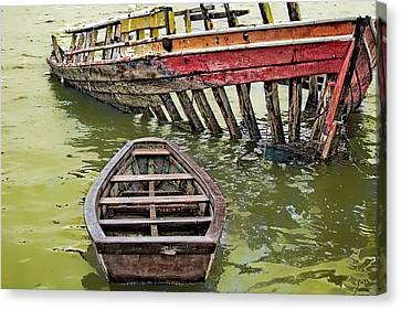 Canvas Print featuring the photograph Abandoned Boat by Kim Wilson