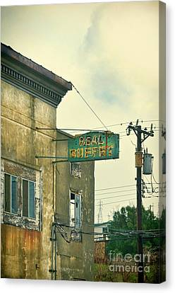 Canvas Print featuring the photograph Abandoned Building by Jill Battaglia