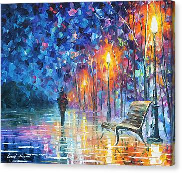 Abandoned By Winter Canvas Print by Leonid Afremov