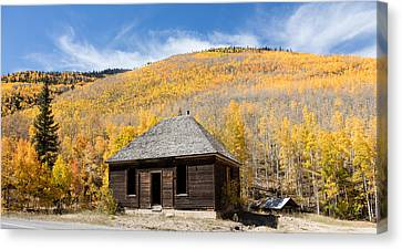 Canvas Print featuring the photograph Abandoned Cabin Near The Old Mining Town Of Ironton by Carol M Highsmith