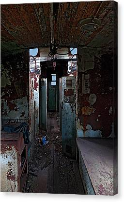 Abandoned Caboose Canvas Print by Murray Bloom