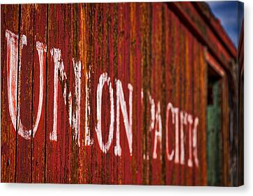 Abandoned Caboose Canvas Print