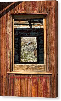 Abandoned Caboose Windows Canvas Print