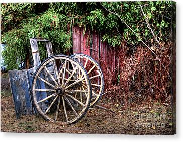 Canvas Print featuring the photograph Abandoned Cart by Jim and Emily Bush