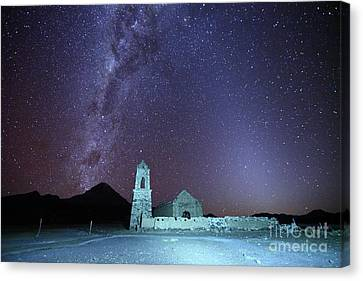 Luz Canvas Print - Abandoned Church Milky Way And Zodiacal Light Bolivia by James Brunker
