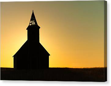 Abandoned Church Silhouette Canvas Print by Todd Klassy