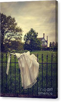 Abandoned Dress Canvas Print by Amanda Elwell