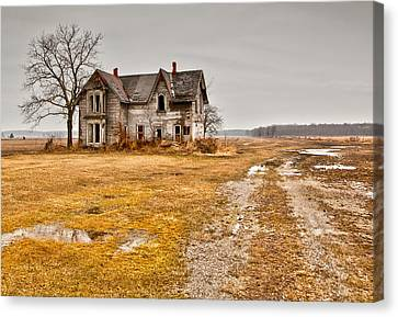 Creepy Canvas Print - Abandoned Farm House by Cale Best