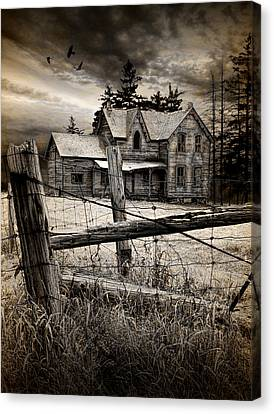 Abandoned Farm House Canvas Print by Randall Nyhof
