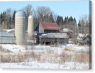 Abandoned Farm In Central Minnesota Canvas Print by Laurie With