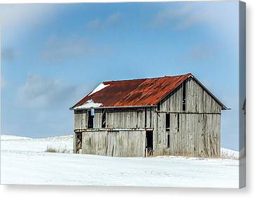 Abandoned Farm Site Canvas Print by Nick Mares