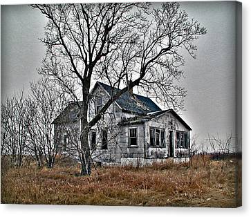 Abandoned Farmhouse Canvas Print by Laurie With