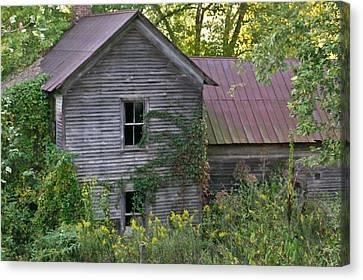 Abandoned Farmhouse On Stacy Fork Canvas Print by Douglas Barnett
