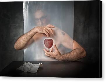 Heart Canvas Print - Abandoned Heart by Vito Guarino