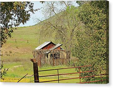 Canvas Print featuring the photograph Abandoned Homestead by Art Block Collections