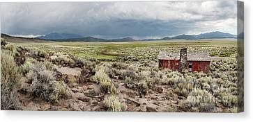 Abandoned Homestead Canvas Print by Melany Sarafis