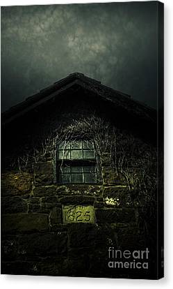 Ghostly Canvas Print - Abandoned Horror House With Creepy Attic Window by Jorgo Photography - Wall Art Gallery