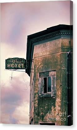Canvas Print featuring the photograph Abandoned Hotel by Jill Battaglia