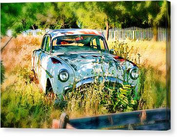 Abandoned Hotrod Canvas Print by Michael Cleere