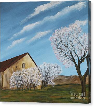 Abandoned House In Spring Canvas Print by Christiane Schulze Art And Photography