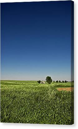 Abandoned House On Oklahoma Plain Canvas Print by by Justin A. Morris