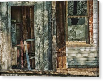Cabin Window Canvas Print - Abandoned by Jack Zulli