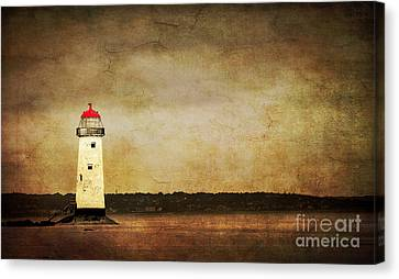 Abandoned Lighthouse Canvas Print by Meirion Matthias