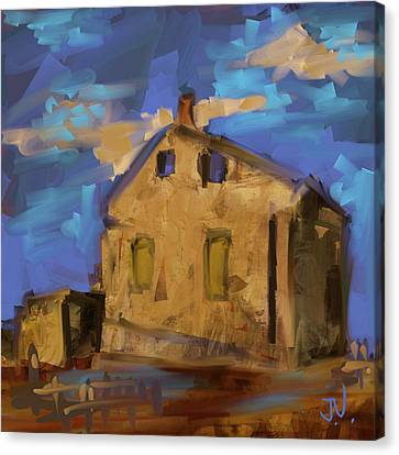 Canvas Print featuring the digital art Abandoned Limestone - 26oct2017 by Jim Vance