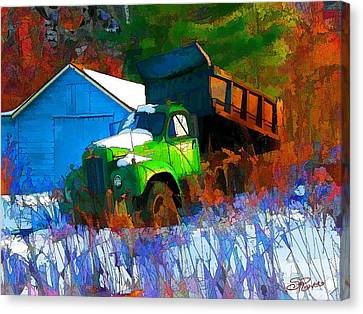 Abandoned Mack Canvas Print by Suni Roveto