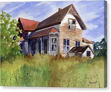 Abandoned Houses Canvas Print - Abandoned by Marsha Elliott