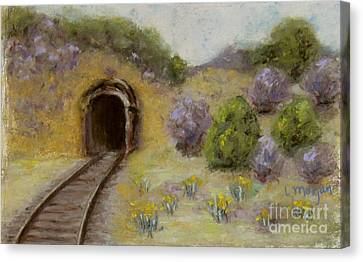 Abandoned Mine Canvas Print by Laurie Morgan