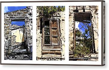 Abandoned Neighbors - Sicily Canvas Print by Linda  Parker