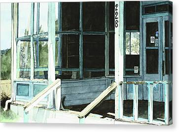 Abandoned Old Store Canvas Print