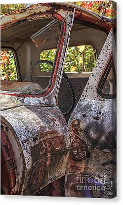 Abandoned Cars Canvas Print - Abandoned Old Truck Newport New Hampshire by Edward Fielding