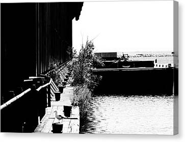 Marquette Canvas Print - Abandoned Ore Dock by Kendall Tabor