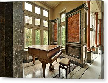 Abandoned Piano - Urban Exploration Canvas Print by Dirk Ercken